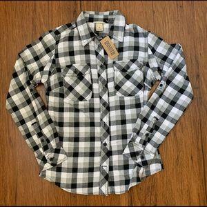 NWT - Duluth Black & White Flannel - XS